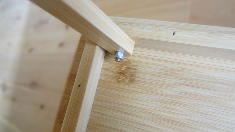 バンブーテーブルのネジ部分