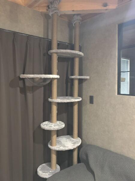 リビングにキャットタワーを設置