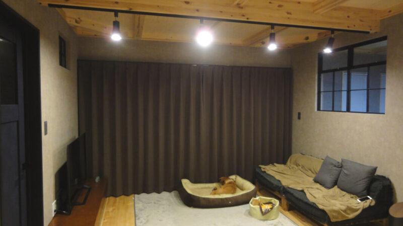 遮光カーテンのbefore